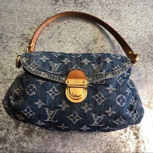 Louis Vuitton Pleaty Monogram Denim Shoulder Bag